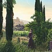 Chardonnay Wine Country Fantasy Poster by Stu Shepherd