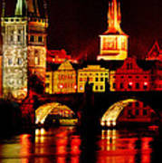 Charles Bridge Poster by John Galbo