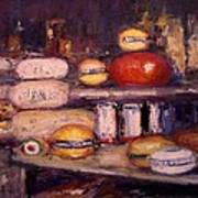 Cheese Shop Window Poster by R W Goetting