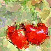 Cherries Abstract Poster by Yury Malkov