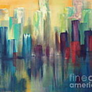 Chicago A Reflection Poster by Julie Lueders