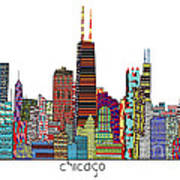 Chicago City  Poster by Bri B