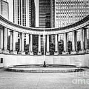 Chicago Millennium Monument In Black And White Poster by Paul Velgos