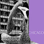 Chicago Pablo Picasso - Violet Poster by DB Artist