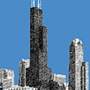 Chicago Sears Tower - Slate Poster by DB Artist