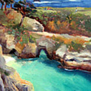 China Cove Point Lobos Poster by Karin  Leonard