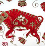 Chinese Year Of The Ox Poster by Barbara Giordano