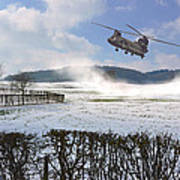 Chinook In Snow Dust Poster by Nop Briex