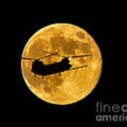 Chinook Moon Color Poster by Al Powell Photography USA