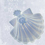 Christmas Angel Poster by Rebecca Cozart