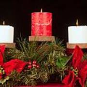 Christmas Candle Trio Poster by Kenneth Sponsler