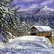 Christmas In New England Poster by David Lloyd Glover