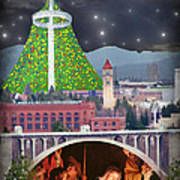 Christmas In Spokane Poster by Mark Armstrong