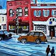 Christmas Shopping In Concord Center Poster by Rita Brown