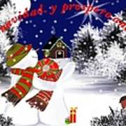 Christmas. Star. Spanish  Poster by Elizabeth millan Rodriguez
