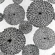 Chrysanthemums Poster by Japanese School