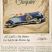 Chrysler 1928 1920s Usa Cc Cars Poster by The Advertising Archives