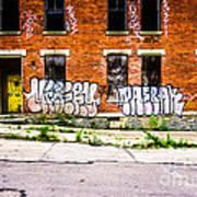 Cincinnati Glencoe Auburn Place Graffiti Photo Poster by Paul Velgos