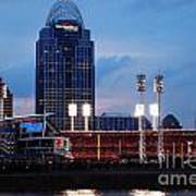Cincinnati Skyline Poster by Deborah Fay