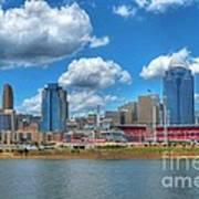 Cincinnati Skyline Poster by Mel Steinhauer