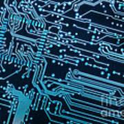 Circuit Board Poster by Carlos Caetano