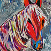 Cisco Abstract Horse  Poster by Janice Rae Pariza