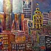 Cityscape 9 Poster by Don Thibodeaux