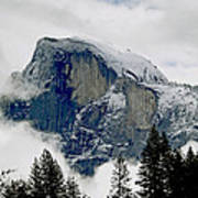 Clearing Storm Around Half Dome Poster by Bill Gallagher