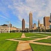 Cleveland Skyline Poster by Frozen in Time Fine Art Photography
