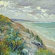 Cliffs By The Sea At Trouville  Poster by Gustave Caillebotte