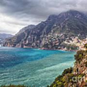 Cliffs Of Amalfi Coastline  Poster by George Oze