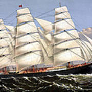 Clipper Ship Three Brothers Poster by War Is Hell Store