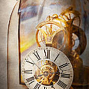 Clockmaker - A Look Back In Time Poster by Mike Savad