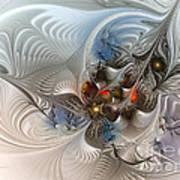Cloud Cuckoo Land-fractal Art Poster by Karin Kuhlmann