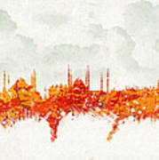 Clouds Over Istanbul Turkey Poster by Aged Pixel