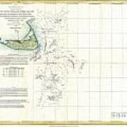 Coast Survey Map Of Nantucket And The Davis Shoals Poster by Paul Fearn