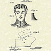 Coat Collar 1904 Patent Art Poster by Prior Art Design