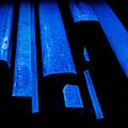 Cold Blue Steel Poster by Steven Milner