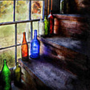 Collector - Bottle - A Collection Of Bottles Poster by Mike Savad