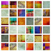 Color Block Collage Abstract Art Poster by Ann Powell