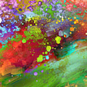 Color Explosion Abstract Art Poster by Ann Powell