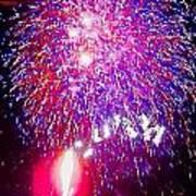 Colorado Fireworks  Poster by Trisha Buchanan