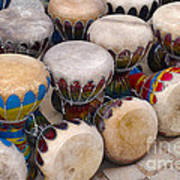 Colorful Congas Poster by Carlos Caetano