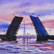 Colors Of Russia Bridges Of Saint Petersburg Poster by Irina Sztukowski