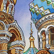 Colors Of Russia St Petersburg Cathedral II Poster by Irina Sztukowski
