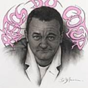 Coluche Poster by Guillaume Bruno