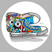 Comics Shoes 2 Poster by Mark Ashkenazi