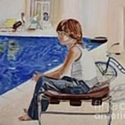 Community Pool Poster by Debra Chmelina