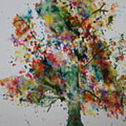 Confetti Tree Poster by Patsy Sharpe