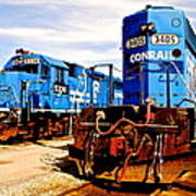 Conrail Choo Choo  Poster by Frozen in Time Fine Art Photography